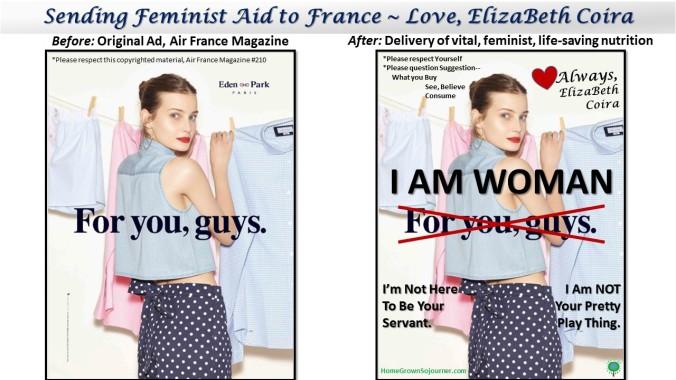 Sending Feminist Aid To France_Love ElizaBeth Coira_HomeGrownSojourner.com